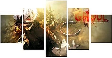 Tokyo Ghoul Póster Ken Kaneki Anime para Pared 5 Paneles Pintura sobre Lienzo: Amazon.es: Hogar