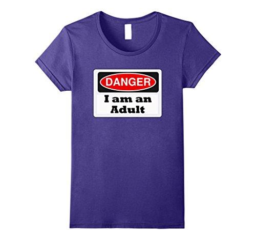 Womens Funny 21st Birthday Gift Shirt for Men or Women Large Purple