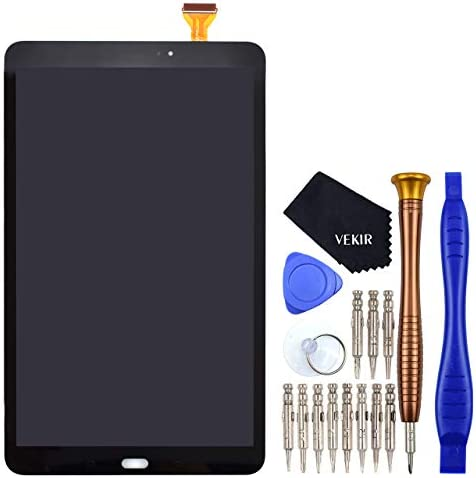 T580 LCD Display Touch Digitizer Glass Screen Replacement Compatible with Samsung Galaxy Tab A 10.1 2016 Black(No Frame)