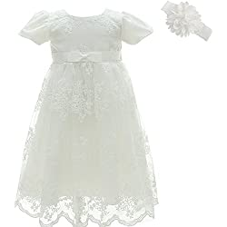 AHAHA Christening Baptism Long Dress Princess Wedding Special Occasion Dress
