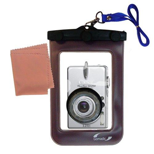 Gomadic Weatherproof Case保護Designed for CANON POWERSHOT sd200カメラwith Unique FloatableDesign   B007FDPIWU