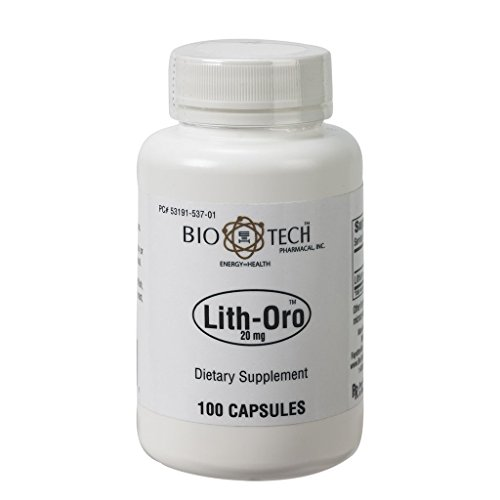 BioTech Pharmacal - Lith-Oro 20 mg - 100 Count
