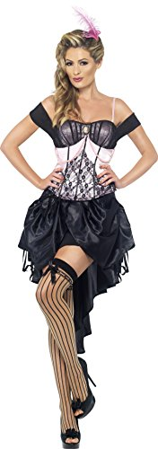 Costumes Burlesque (Smiffy's Madame L-Amor Burlesque Costume, Pink/Black,)