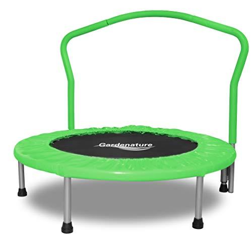 Gardenature Trampoline-36 Portable Trampoline for Kids-Green