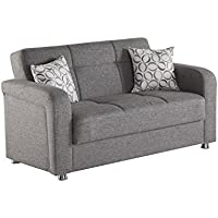 ISTIKBAL Multifunctional Furniture Living Room VISION Collection Grey LOVE SEAT SLEEPER