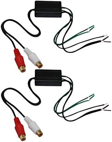 P Prettyia 2xカーオーディオスピーカーワイヤーからrcaライン出力コンバーターケーブル長8インチ