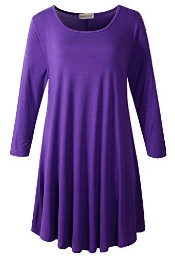 Womens 3/4 Length Sleeve T-shirt - 2
