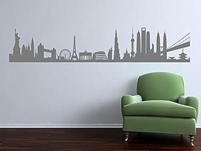Superior City Landmarks of the World. Premium Matte Vinyl Wall Art Decal Sticker.