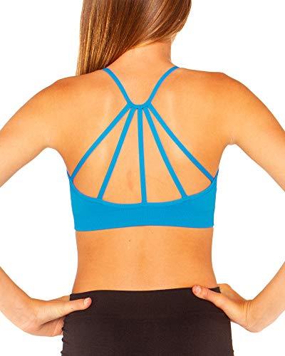 Malibu Sugar Girls (7-14) Cage Back Bra Cami One Size Turquoise