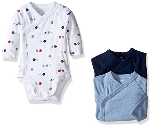 Carter's 3 Pack Side Snap Bodysuits (Baby) - Assorted - 3...