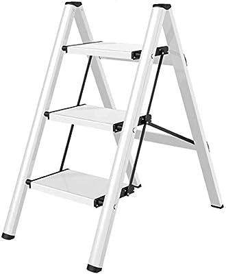 ZXL Sencillo Multifuncional Plegable Heces, la Escalera de Tres Pasos de Escalera Del Hogar Antideslizante General Perfil Plegable de Aluminio Grueso Ascendente Regalo de la Aleación,Marrón,67.5X45X8: Amazon.es: Bricolaje y herramientas