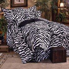 Black Zebra EXTRA LONG TWIN 11 Pc Bedding Set (Comforter, 1 Flat Sheet, 1 Fitted Sheet, 1 Pillow Case, 1 Sham, 1 Bedskirt, 1 Valance/Drape Set) - SAVE BIG ON BUNDLING!