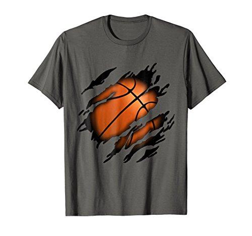 Mens Basketball in me T-Shirt, Basketballshirt Small Asphalt