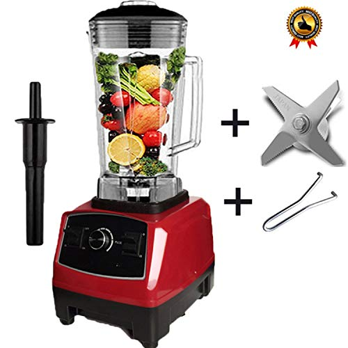 3Hp Commercial Grade Home Professional Smoothies Power Blender Food Mixer Juicer Food Fruit Processor,888Red Blade Tool,Uk Plug
