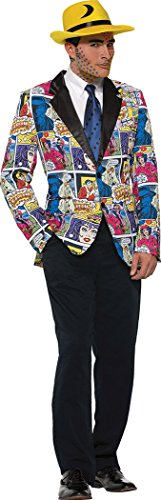 Mens Fancy Dress Party Costume Comic Book Pop Art Blazer Only Chest Size 42
