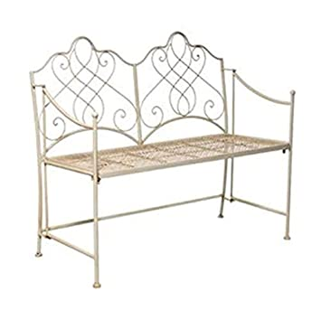 Pleasant Black Country Metal Works Cream Wire Work Garden Bench Gmtry Best Dining Table And Chair Ideas Images Gmtryco