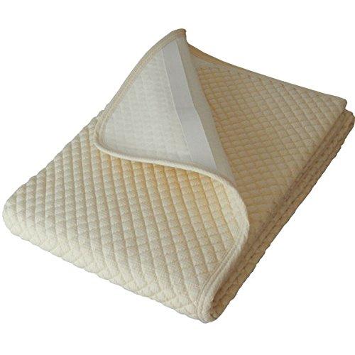 日本製 敷きパッド 洗える 夏用汗取りパット ワッフル生地のぽこぽこキルト (ワイドキング200×205cm, アイボリー) B00Y08XWTY ワイドキング200×205cm|アイボリー アイボリー ワイドキング200×205cm