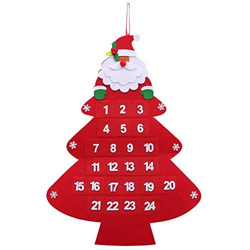 Brave669 Clearance Deals Santa Claus Christmas Advent Calendar Hanging Xmas Tree House Window Decoration Tree ()