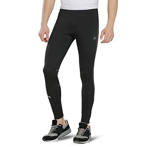 Baleaf Men's Outdoor Thermal Cycling Running Tights Black Si