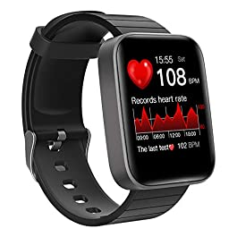 Smart Watch, LCW Fitness Tracker with Heart Rate Monitor, Blood Oxygen Meter, Body Temperature Thermometer, Sleep…