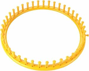"Knifty Knitter Extra Large Round Loom Set-Yellow 11-1/2"" Diameter"