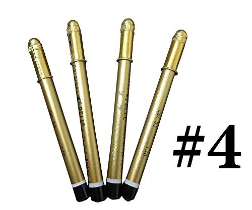 4 Pieces Original German Black Kajal Eyeliner Kohl Stick Eye shadow Makeup Pencil