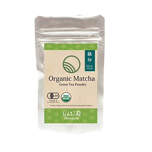Silver Mark Organic Matcha Green Tea Powder 1.06oz (30g) from Japan - Culinary Grade, Make Matcha Latte, Smoothies, Baking & Coffee Alternative