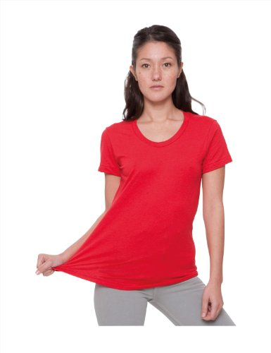American Apparel Poly/cotton Short Sleeve Womens T bb301 - Heather Forest - S
