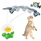 Funny Pet Cat Gatto Kitten Toys Electric Rotating Butterfly Rod Pet Cat Gatto Teaser Play Toy