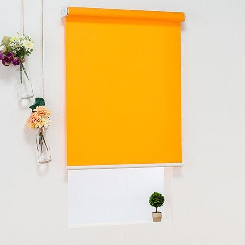 オーダーロールスクリーン(オレンジ)/ベーシックタイプ/ 様々なテイストのカラーをラインナップ/日本製/高品質【幅120cm 丈230cm】 B07CZ7MWTJ 幅120cmx丈230cm