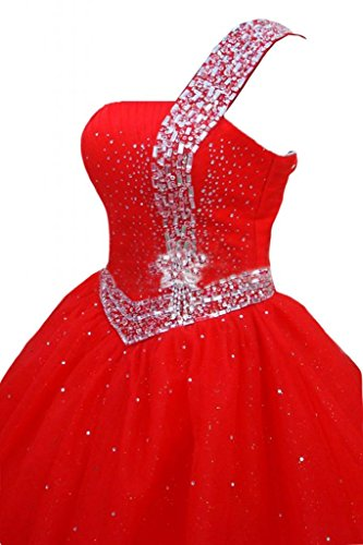 sera Una abiti sera abiti Tulle Rosso donna Sunvary porta da spalla da OSCvq