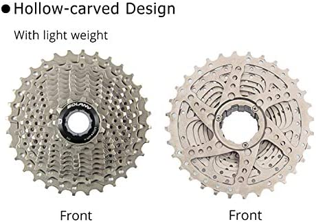 Bolany Bike Freewheel 10 Speed Road Cassette 11-32T Bicycle Flywheel Sprockets