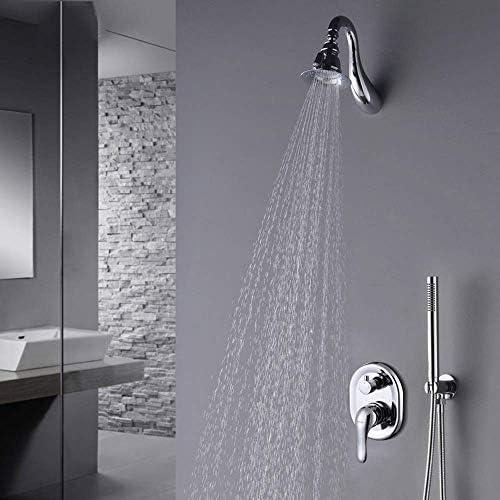 オール銅隠されたシャワーの蛇口壁のホットとコールドの蛇口シャワーセットレインシャワーシステム