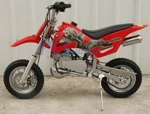 49cc 50cc red 2 stroke gas motorized mini dirt. Black Bedroom Furniture Sets. Home Design Ideas