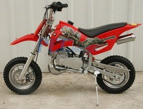 49cc 50cc Red 2-Stroke Gas Motorized Mini Dirt Pit Bike
