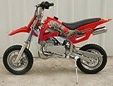 #9: 49cc 50cc Red 2-Stroke Gas Motorized Mini Dirt Pit Bike