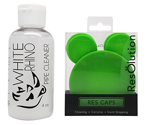 White Rhino 4oz Pipe Cleaner with ResOlution Cleaning Caps - Green