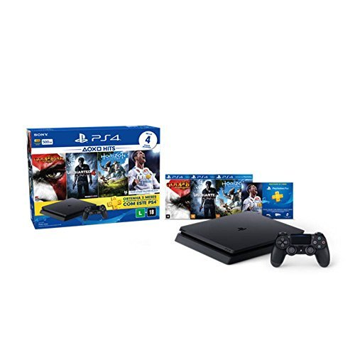 Console PlayStation 4 - Slim 500GB - Hits Bundle v2