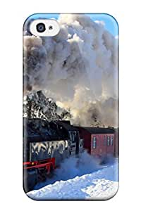 New ZGqEsZm3015GaGdh Smoke Coming Out Of A Train Locomotive Skin Case Cover Shatterproof Case For Iphone 4/4s