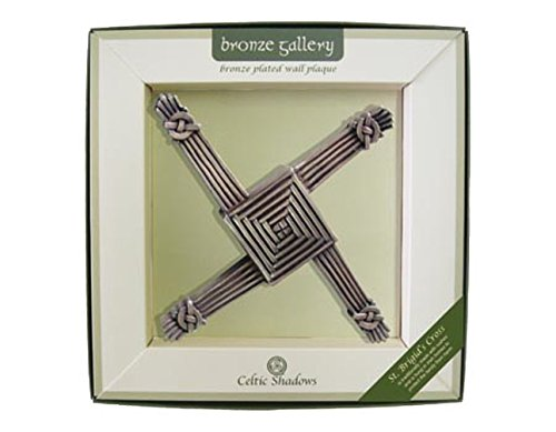 Bronze Plated Wall Plaque With St Brigid's Cross Design