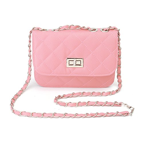 OURBAG Beige with Bag Bag Crossbody Purse Leather Strap Handbag Evening Mini Chain Shoulder Women Pink Envelope 6fEqwp1