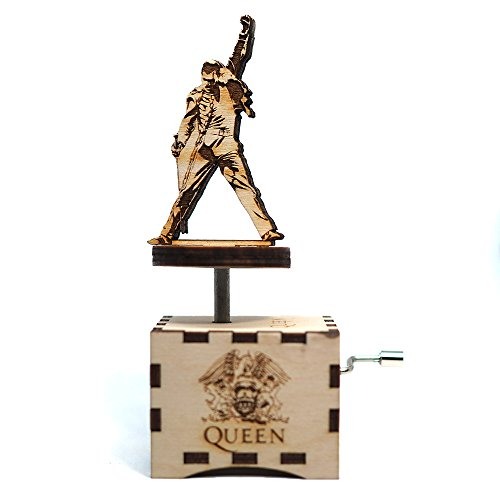 Mercury Laser - Queen Music Box - Crazy Little Thing Called Love - Laser cut and laser engraved wood music box. Perfect gift, memorabilia or collectible
