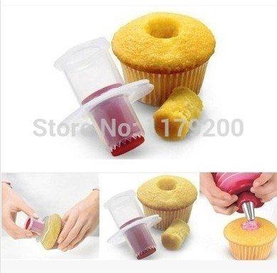 1 Piece Cupcake Corer Plunger Cutter Pastry Cake Hole Maker Cream Decoration Decorating Divider Filler Mode Mould Mold