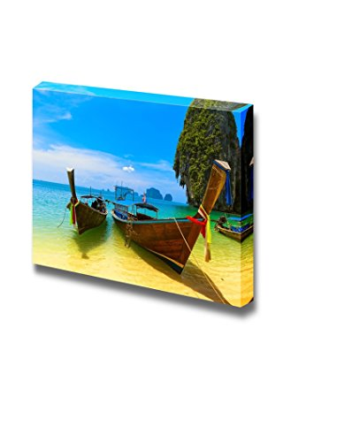Travel Landscape Beach with Blue Water and Sky at Summer Wall Decor ation