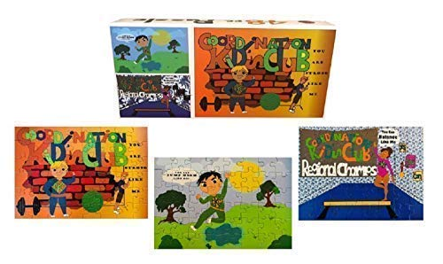 Kids Jigsaw Puzzle Set- Ages 5-10- Set Includes Three 48 pc. Puzzles- Fun Activities to Help Develop Fine Motor Skills- Bonus Activity Included for Each Puzzle to Help Develop Gross Motor Skills