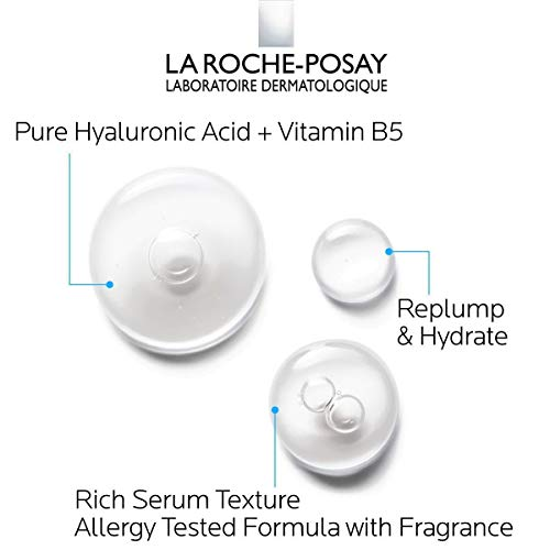 La Roche-Posay Hyalu B5 Pure Hyaluronic Acid Serum for Face, with Vitamin B5. Anti-Aging Serum Concentrate for Fine Lines. Hydrating, Repairing, Replumping. Suitable for Sensitive Skin, 1 Fl Oz
