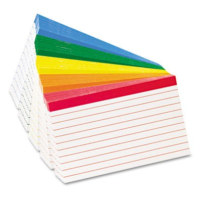 - (6 Pack Value Bundle) OXF04753 Color Coded Bar Ruled Index Cards, 3 x 5, Assorted Colors, 100/Pack