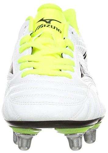 Mizuno Waitangi Ps - Botas de Rugby blanco (White/Black/Yellow)