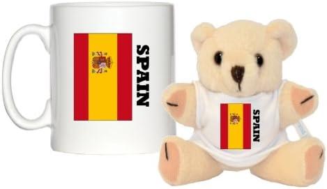 Diseño de bandera de España taza y 5