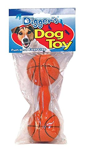 Boss Pet 52531 Soft Latex Dumbell Dog Toy Assorted ()